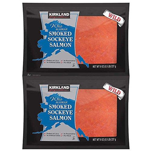 (Smoked Sockeye Salmon Nova Lox 8 - 8 oz packs)