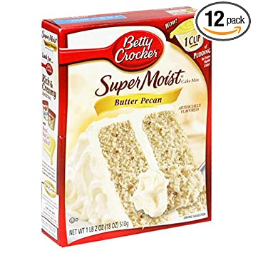 Betty Crocker Super Moist Cake Mix Er Pecan 15 25 Oz Box Pack Of