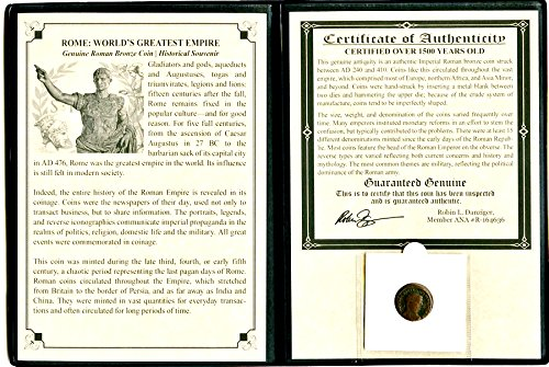 26 IT Portrait Coin of a Roman Emperor Coin With Album,Story Certificate 18mm Very Good