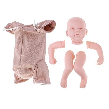 P Prettyia Kit de Cabeza con Extremidades con Paño de Cuerpo Parte Personalizada para Muñecas Muchachas
