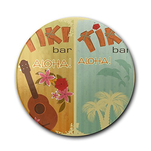 Ceramic Coaster, Personalized Gifts Hawaiian Party TIki Bar Glass Cup Holder Coffee Mug Place Mats Absorbent Stone Coasters For ()