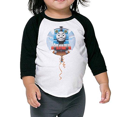JXMD Kids Boy's & Girl's Thomas And Train 3/4 Sleeve Black Size 3 Toddler