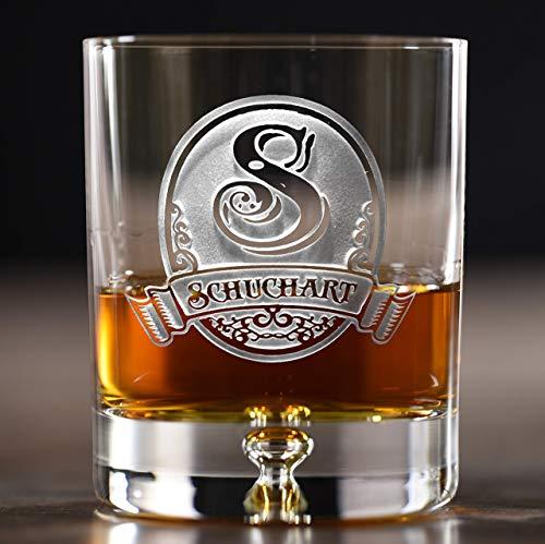 - Lead Free Crystal Whiskey, Scotch, Bourbon Rocks Glasses Engraved SET OF 4 (M8)