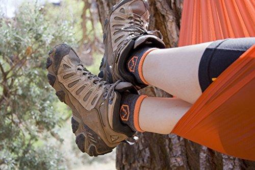 CloudLine Merino Wool 1/4 Crew Running & Athletic Socks - Medium Cushion - X-Large Glacial Blue - For Men & Women