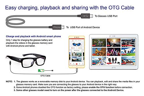 Amazon.com : Video Glasses - HD Camera Glasses with 32GB Memory Card - Eye Glasses with Camera - Wearable Camera : Camera & Photo