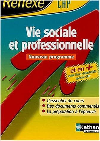 Téléchargement Vie sociale et professionnelle CAP pdf