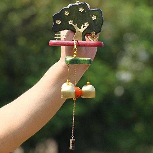Brass Musical Instrument Pin - Bell Beautiful Door Wind Chimes Decorations Trim Hangings Musical Bells Chime Decoration Home