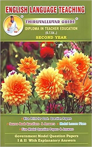 Buy English Language Teaching - D T Ed 2nd Year Book Online at Low