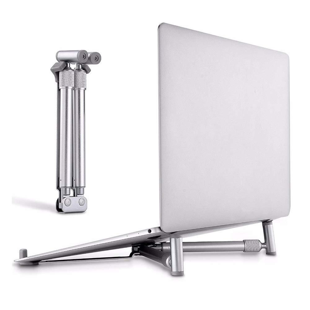 TQZY Laptop Stand,Aluminium Portable Foldable Adjustable Ergonomic Notebook Riser Ventilated Cooling Holder for MacBook Pro Air Mini