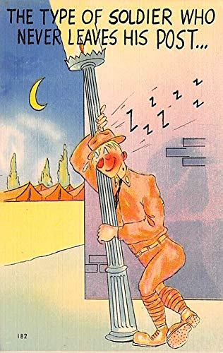 Military Comic Postcard, Old Vintage Antique Post Card Post, Series N Army Comics Unused