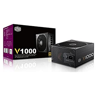 Cooler Master V1000, Full Modular 80+ Gold Certified 1000W Power Supply, 5 Year Warranty (B00CGY4ETG) | Amazon price tracker / tracking, Amazon price history charts, Amazon price watches, Amazon price drop alerts