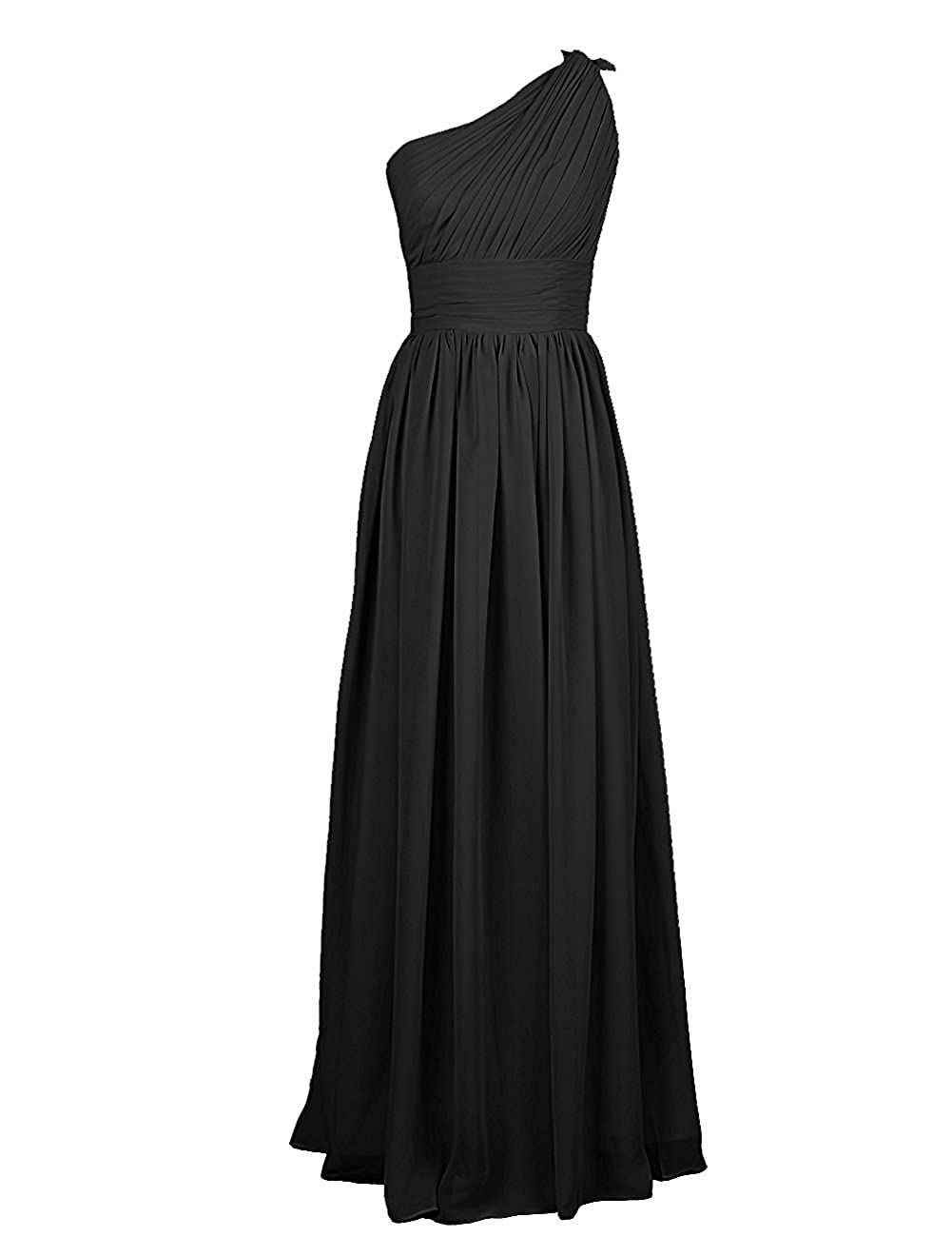 Victoria Prom One Shoulder Long Prom Dress Chiffon Bridesmaid Dress for Weddings at Amazon Womens Clothing store: