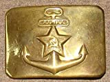 Original Russian Soviet Union Military Sailors NAVY Red Army RKKA Belt Buckle USSR Uniform Surplus