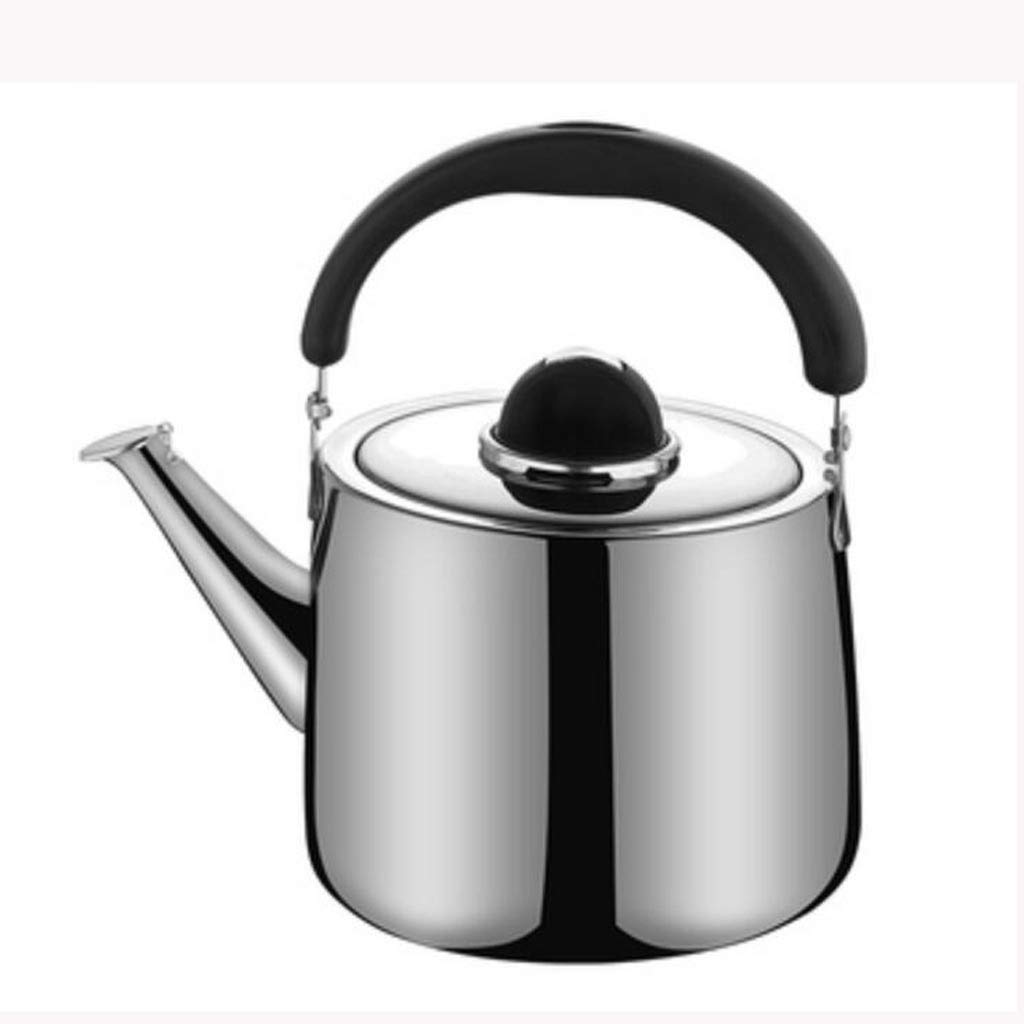 304 Stainless Steel Kettle, Gas Gas Stove Thickened Whistling Kettle, Household Large Capacity Kettle (Size : 5L)