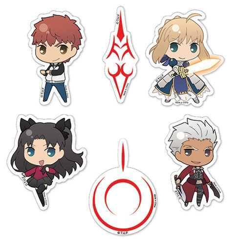 Fate Stay Night: Saber, Archer, Rin and Shirou Group Sticker (Archer Decals)