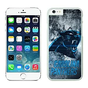 NFL iPhone 6 Plus 5.5 Inches Case Carolina Panthers iPhone Cases White iPhone 6 Plus Cell Phone Case ONXTWKHB0681
