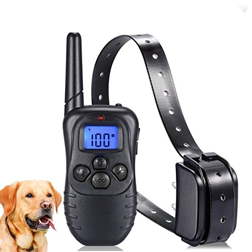 Dog Training Collar for Small Medium Large Dogs(15-100bls) – Rechargeable Remote & Rainproof Receiver 330 Yards Beep/Vibration/Shock Modes – Training eBook