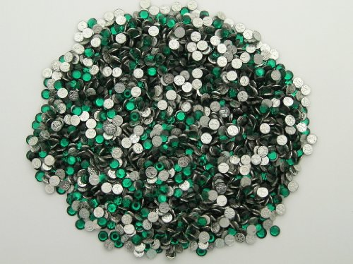 360pcs size ss10 (2.8mm) Emerald, Preciosa MC Iron-on Chaton Roses (HotFix Flatbacks)