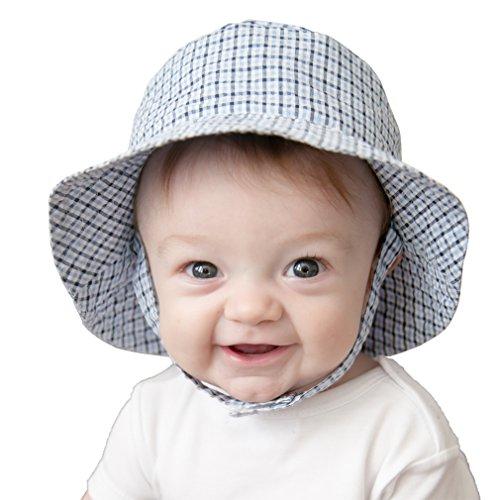 huggalugs-boys-blue-plaid-seersucker-sun-hat-upf-25-0-6m