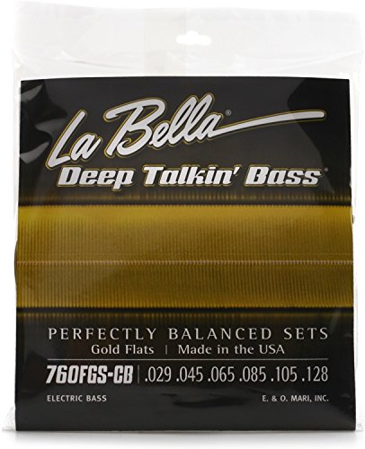 La Bella Deep Talkin' Bass Gold Flats Electric Bass Strings - ()
