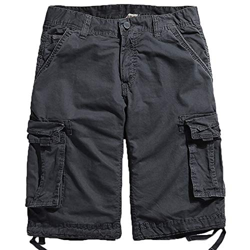 - Northgard Men's Cargo Shorts Cotton Twill Relaxed Fit Multi Pocket Cargo Short Pants(Carbon Grey,38)