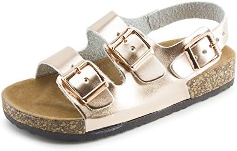 125446ae0 Kali Girls Open Toe Buckle 2 Strap Ankle Hook Sandals (Toddler Little Kid)