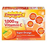 Cheap Emergen-C (30 Count, Super Orange Flavor, 1 Month Supply) Dietary Supplement Fizzy Drink Mix with 1000mg Vitamin C, 0.32 Ounce Packets, Caffeine Free