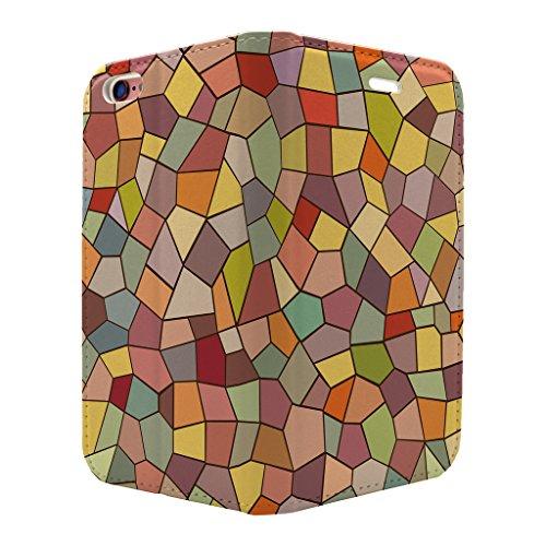 gebeizt Glas Muster Voll Flip Case Cover Für Apple iPhone 6–6S–s3534