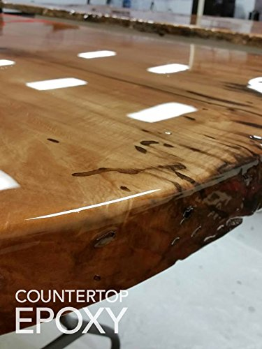 Countertop Epoxy - FX Poxy - UV Resistant Resin - 2 Gallons (Ultra Clear,  40 sq ft)