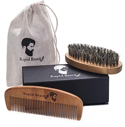 Beard Brush and Beard Comb kit for Men Grooming, Styling & Shaping...