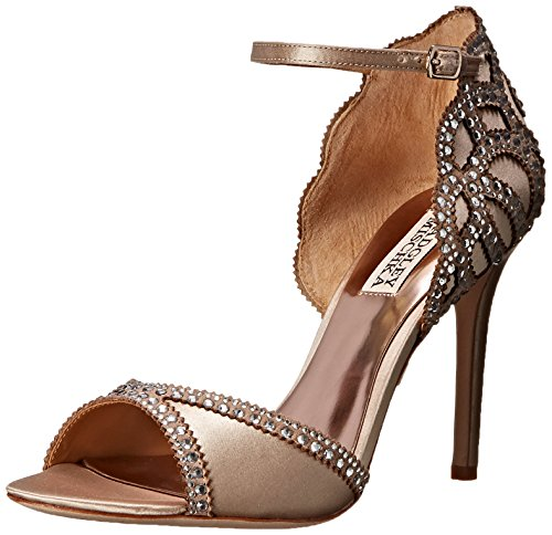 Satin Nude Roxy Sandal Heeled US Mischka M Women's Badgley 6 Nude vq4YRP
