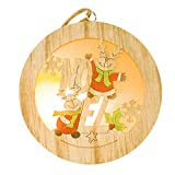 Zoilmxmen Creative Lovely Christmas Wooden Pendant Xmas Tree Pendant Party Christmas Tree Ornaments Xmas Birthday Gifts Christmas Tree Hanging Decor
