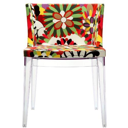 LexMod Mademoiselle Style Accent Chair with Clear Acrylic Ba