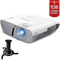 ViewSonic 3300 Lumens XGA HDMI Network Projector (PJD6250L) with Ceiling Bracket for Projector & 1 Year Extended Warranty