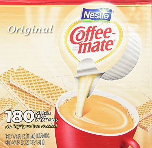 Nestle Coffee Mate Creamer 180 Single Serve Portions, Original, 67.5 Ounce