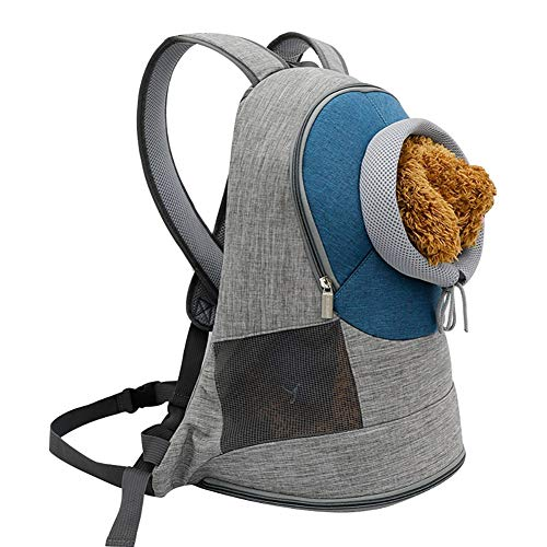 JIAOHJ Collapsible pet Carrier Backpack with Adjustable Aperture and Breathable Widened Shoulder Strap for Kitten Puppies,B,S