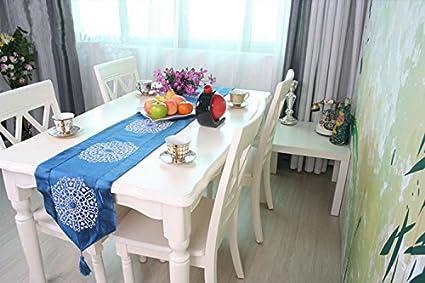 Simple y moderna funda de tela con bandera azul cama cama Toallas toalla regalo table tabla
