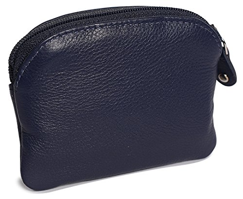 SADDLER Womens Leather Zip Top Coins Key Purse Front Flap Pocket - Peacoat Blue by Saddler (Image #4)'