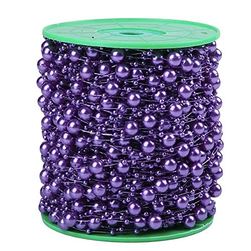 Topbeu 60 Meters Roll Beads String Party Garland Flowers Wedding Home Decorations (Deep Blue)