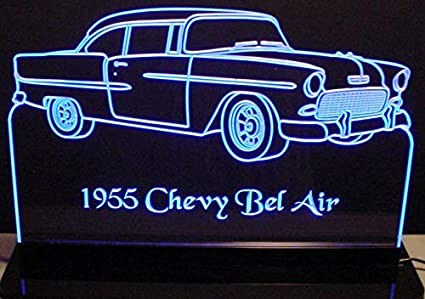Amazon Valleydesignsnd 1955 Chevy Belair 2 Door Acrylic Lighted