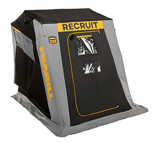 Frabill Recruit 1250 Insulated Flip-Over Front Door W/Boat - Shelter Fishing Ice Clam