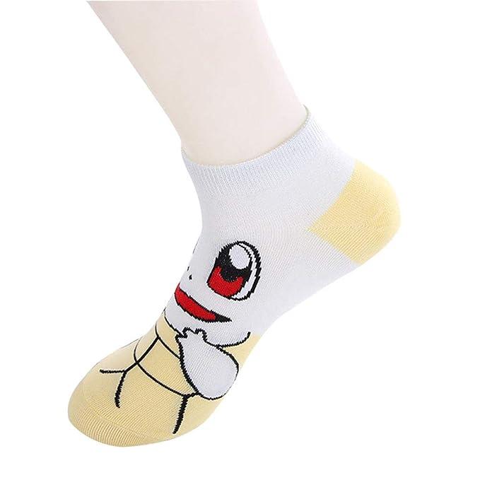 CTOOO Mujer Calcetines De Algodón De Dibujos Animados Pikachu 10 Pares Un Tamaño: Amazon.es: Ropa y accesorios