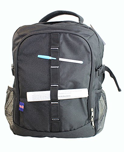 BoardingBlue Personal Item Laptop Backpack for America, Spirit, Frontier Airlines BLACK