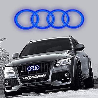 Motorfox Led Emblem Logo Front Grill Illuminated Glow Light Badge Blue: Automotive