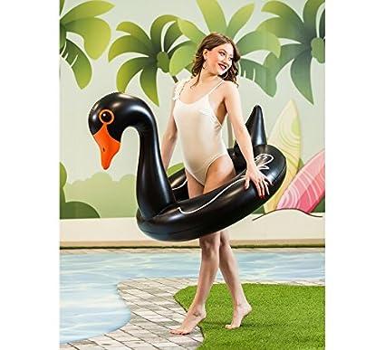 Creaciones Llopis Cisne Hinchable Negro de 96 cm: Amazon.es ...