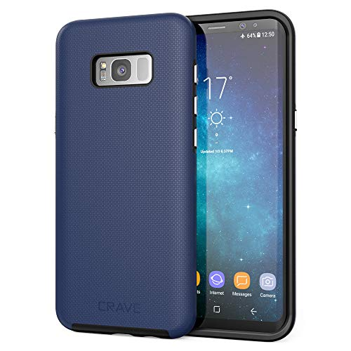 S8 Plus Case, Crave Dual Guard Protection Series Case for Samsung Galaxy S8 Plus - Navy