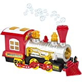 GN Kids Bubble Blowing Train Car Bump And Go Battery Operated,Music,Lights,Bubble