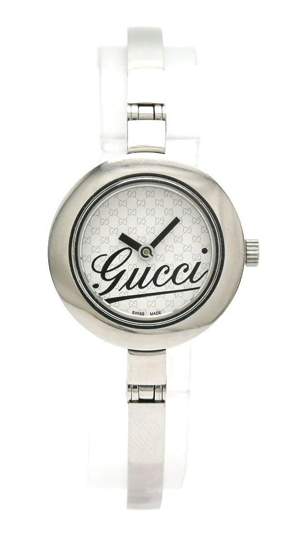 [グッチ] GUCCI シルバー文字盤 レディース QZ クォーツ 腕時計 105 YA105528 B07FLDYSKN