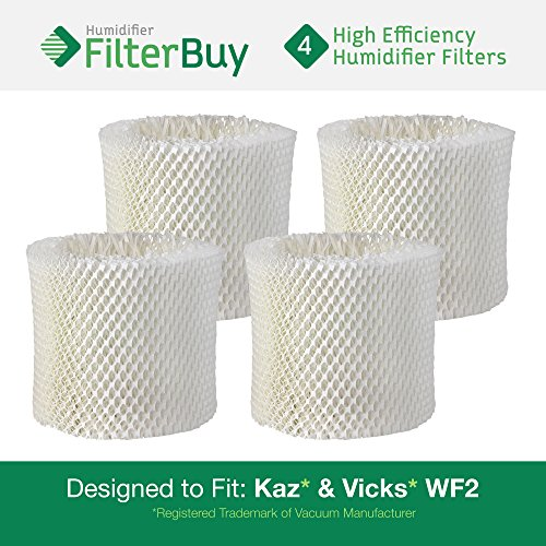 4 - WF2 Kaz & Vicks Replacement Humidifier Wick Filters. Designed by FilterBuy in the USA.