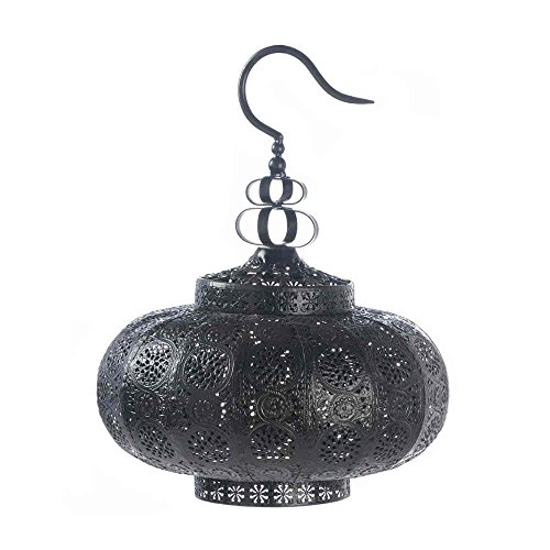 (Punched Moroccan Hanging Pendant Lamp Lantern Chandelier Candle Holder Light)